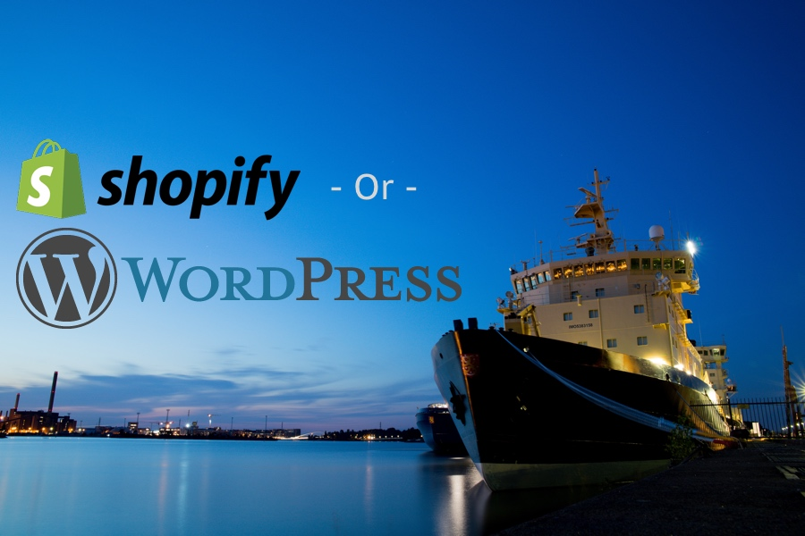 WordPress or Shopify for Dropshipping, Dan put a ship in the image for extreme cleverness